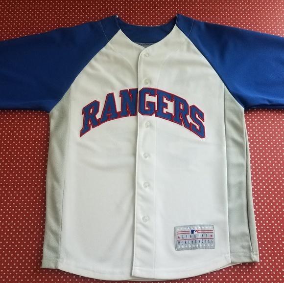 sports shoes d6de0 512f6 Youth Size MLB Texas Rangers Josh Hamilton Jersey
